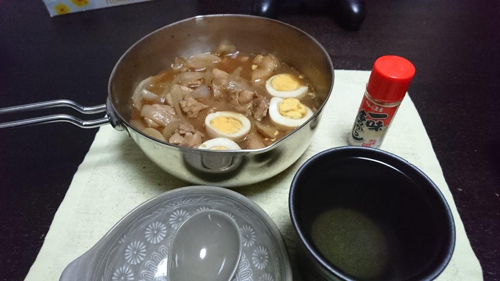今夜の晩酌 鶏肉と卵のさっぱり煮風