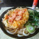 今日のお昼 天ぷらうどん