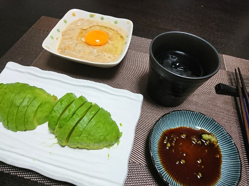 いか納豆とアボカドのワサビ醤油
