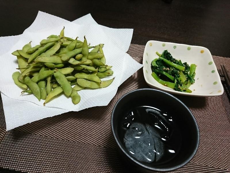 枝豆と小松菜のおひたし