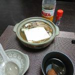 今夜は湯豆腐を肴に一杯