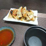 今夜はかき菜のおひたしと里芋の煮物とカボチャの煮物、そして焼き餃子を。