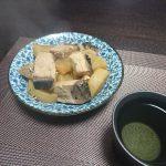 今夜は小松菜のおひたしとがんもどき、ぶり大根で晩酌