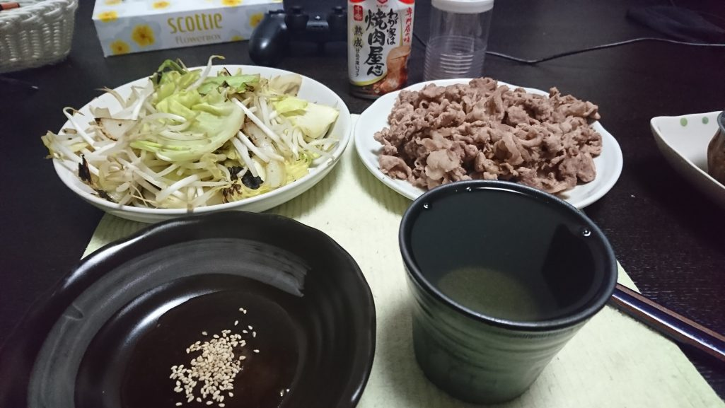 今日の晩酌 肉野菜炒め焼肉風