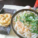 今日の昼飯 天ぷらうどん
