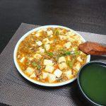 暑いときこそ辛いもの、今夜は麻婆豆腐で晩酌を。