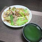 今夜の晩酌 肉野菜炒めを作って一杯