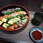 今夜の晩酌 寿司を肴に一杯