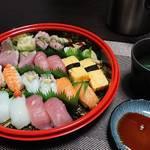 今夜の晩酌 寿司をつまんで一杯