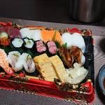 今夜の晩酌 またまた寿司をつまんで一杯