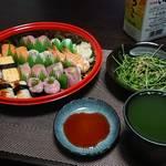 今夜の晩酌 寿司をつまみに一杯